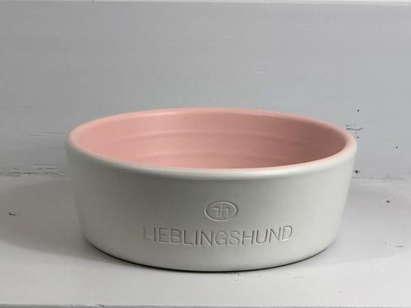 Hundenapf aus Keramik Lieblingshund rosa groß