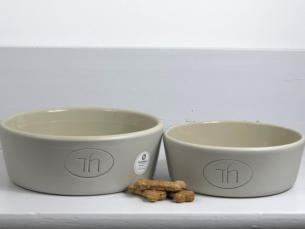Hundenapf aus Keramik PURE grey mittel