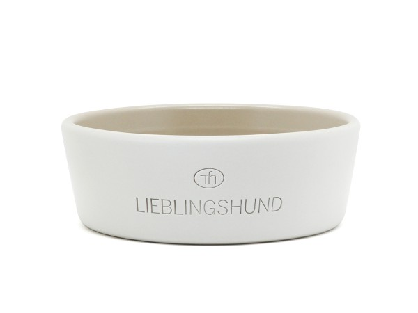 Hundenapf aus Keramik Lieblingshund cream / sand mittel