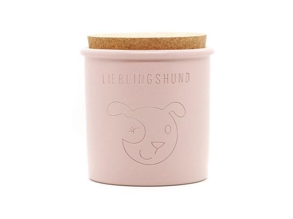Keramikdose für Leckerlis, rosa