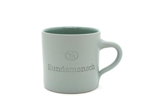 Tasse aus Keramik Hundemensch salbei