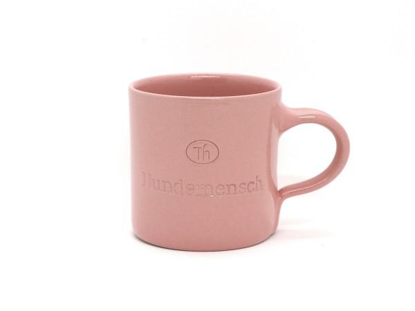 Tasse aus Keramik Hundemensch blush