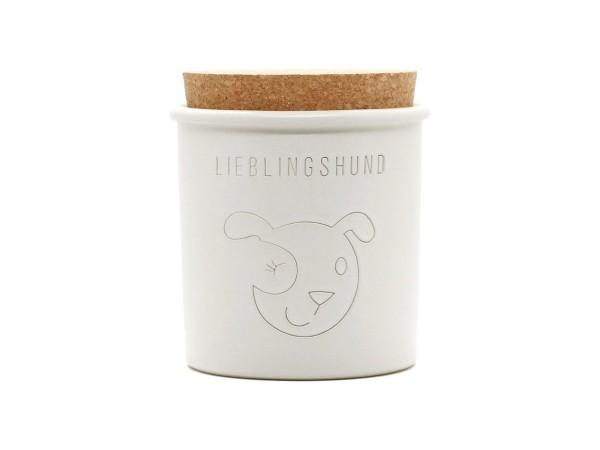 Keramikdose für Leckerlis, weiß