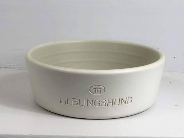 Hundenapf aus Keramik Lieblingshund grau klein